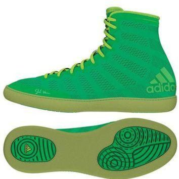 DCCK8X2 ADIDAS ADIZERO VARNER WRESTLING SHOES - GREEN