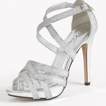 High Heel Strappy Glitter Sandal from Camille La Vie and Group USA