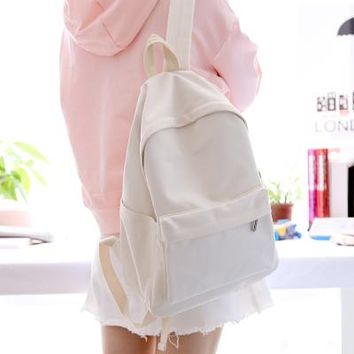 School Backpack trendy Simple classic desgin good quality girls canvas backpack student school book bag women backpack AT_54_4