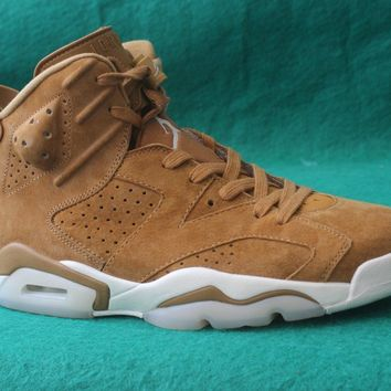 Air jordan retro 6 shoe Golden Harvest Wheat Man Basketball Shoes Trainer Sneakers