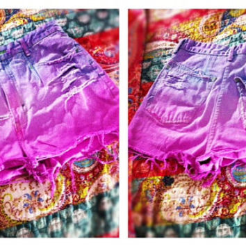 High Waisted Shorts. Vintage. Studs. Bleach. American Apparel. Indie Fashion. Hipster. Unique. Denim. Frayed. Style. Fashion. Hippie. Grunge