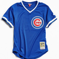 Mitchell & Ness Chicago Cubs Batting Jersey | Urban Outfitters