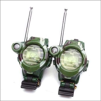 2PCS Children Toy Walkie Talkie Child Watches Interphone Outdoor