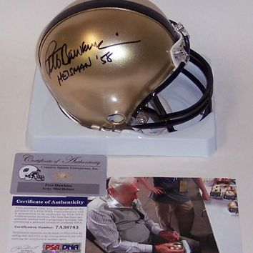 PETE DAWKINS HAND SIGNED ARMY BLACK KNIGHTS MINI HELMET HEISMAN 58 PSA/DNA