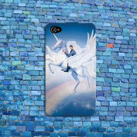 Funny Spock Phone Case Crazy Unicorn iPhone Case Cool Cell Phone Cover iPhone 4 iPhone 5 iPhone 4s iPhone 5s iPhone 5c Case
