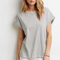 Boxy Micro-Striped Tee
