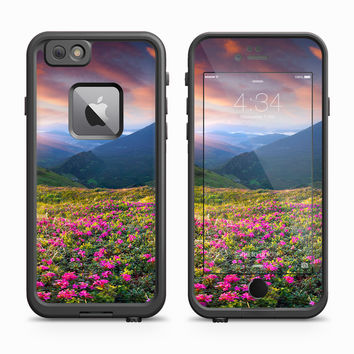 Mountainscape at Dawn of Field of Flowers Skin for the Apple iPhone LifeProof Fre Case