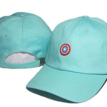 ONETOW Day-First? Blue Captain America Embroidered Baseball Cap Hat