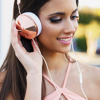 Frends - Taylor Headphones - Rose Gold/White