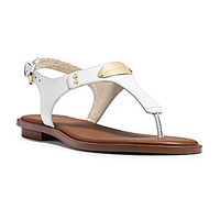 MICHAEL Michael Kors MK Plate Sandals - Optic White