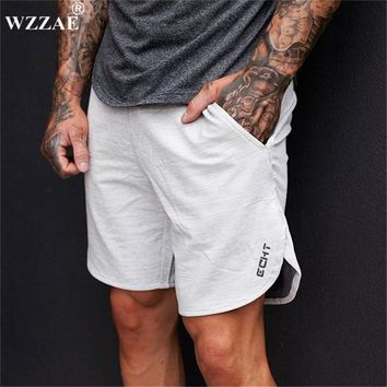 WZZAE 2017 Summer Mens Brand Jogger Sporting Shorts Slimming Men Black Bodybuilding Short Pants Male Fitness Gyms Shorts Workout
