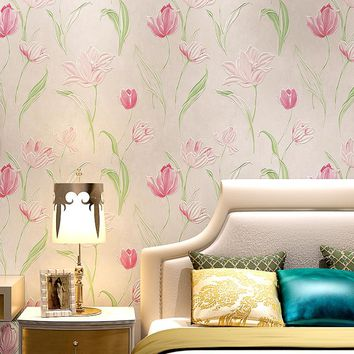 Modern Art Flowers Wallpaper 3D Embossed Non-Woven Photo Wall Paper For Walls Living Room Bedroom Home Decor Papel De Parede 3D
