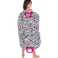 World Traveler 40-inch Zebra Print Garment Bag, Black and White with Pink Trim
