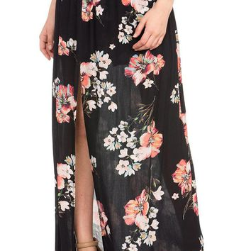 Women's Woven Shorts with Maxi Skirt Cover-Up