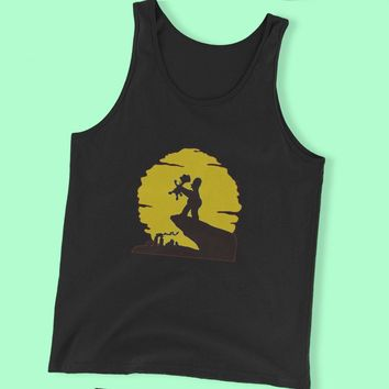 Bart And Homer Lion King Men'S Tank Top