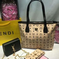 ONETOW Year-End Promotion 3 Pcs Of Bags Combination (MCM Bag ,YSL Little Bag ,MCM Wallet)