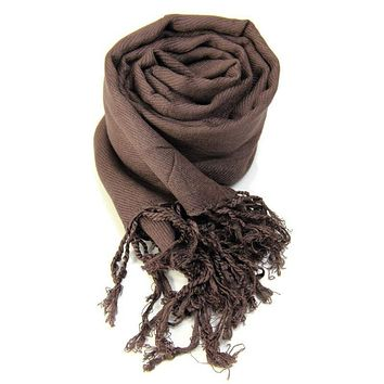 Winter Soft Cotton Long Scarf Women Tassel Shawls Oversized Blanket Wrap Wool Scarves