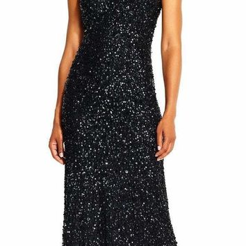 Adrianna Papell - AP1E201867 Sequin Embellished Evening Gown