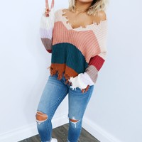Always On The Go Sweater: Beige/Multi