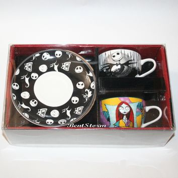 Licensed cool Disney The Nightmare Before Christmas Jack & Sally Tea Cup & Saucer Gift Set NIB