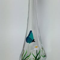 Butterfly and Daisy Olive Oil or Soap Bottle