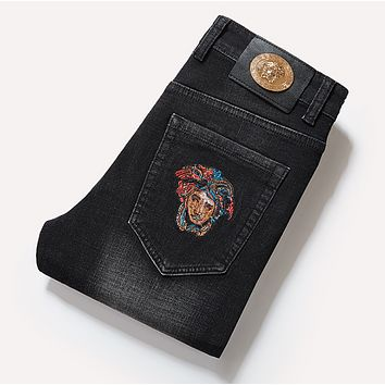 VERSACE Fashion Men Denim Pants Jeans
