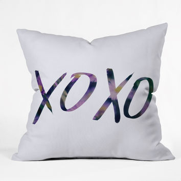 Leah Flores XOXO Throw Pillow