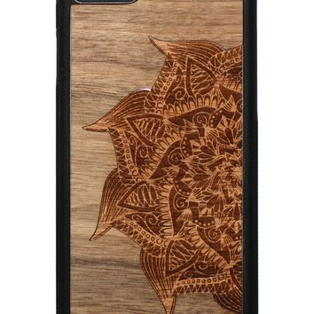 Slim Wooden Phone Case | Mandala