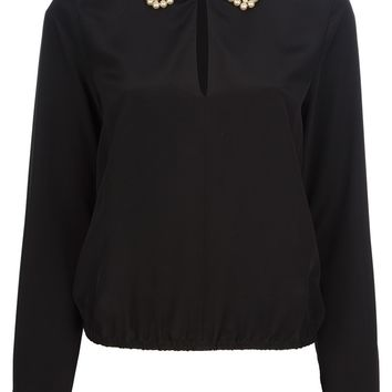 Moschino Cheap & Chic Pearl Collar Blouse