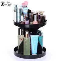 Fashion Rotating cosmetic box for Skincare bathroom makeup storage Dresser cosmetic organizer Desktop Storage Box rack rotation