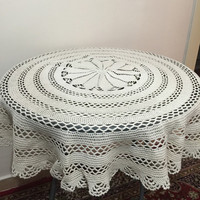 Freeshipping.. Handmade mercerized cotton crochet  tablecloth..circle shaped..100 cm radius..