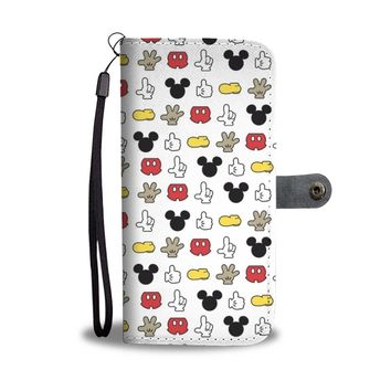 KUYOU Stick Disney Mickey Mouse Wallet Phone Case