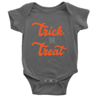 Trick Or Treat Halloween Baby Onsie