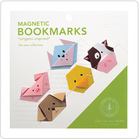 Girl Of All Work :: Magnetic Origami Bookmarks: Animals