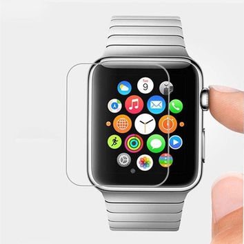 0.26MM Premium LCD Clear Guard Shield  Film 9H Real Tempered Glass Screen Protector For iPhone iWatch  Smart Watch 38/42mm ORG [9305797319]