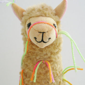 Little Llama Decorated with Tassles ...Just like the Llamas of Fox Hill! Valentines Day Gift