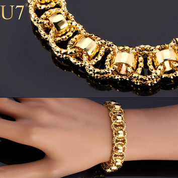U7 Trendy Platinum Plated Bracelets For Men H488