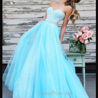 Strapless Sweetheart Formal Prom Gown By Sherri Hill 11186