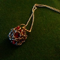Caged D-4 dice necklace