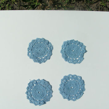 Handmade crochet 4 pack of doilies by CanadianCraftCritter on Etsy