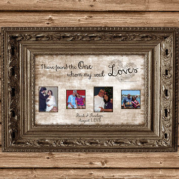 Wedding Anniversary Gift for Couple - Valentines Day Gift for Wife -  Personalised Photo Print - Song of Solomon - Love Art Personalized