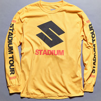 Justin Bieber Stadium Tour S Gold Long Sleeve T-Shirt at PacSun.com