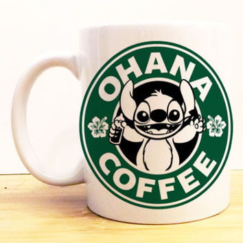 Ohana Coffee Mug |  Lilo and Stitch Starbucks |  Disney