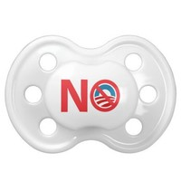 NObama Anti Obama Sign Baby Pacifier from Zazzle.com