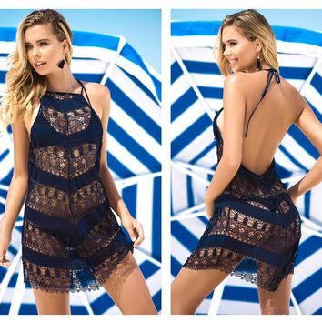 Mapale 7869 Cover Up and Beach Dress Color Navy