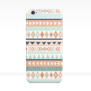 Coral & Mint Tribal iPhone Case