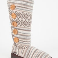 Muk Luks Malena Womens Slipper Boots Ivory  In Sizes