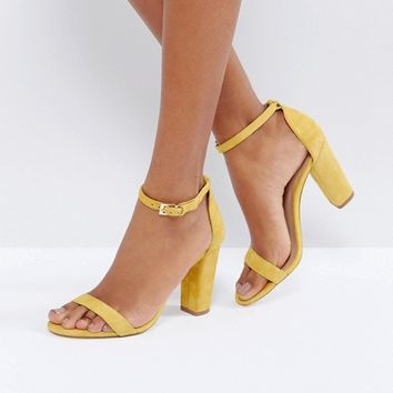 ALDO Myly Suede Barely There Block Heeled Sandals at asos.com