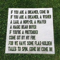 If you are a dreamer, a wisher metal sign, come in sign