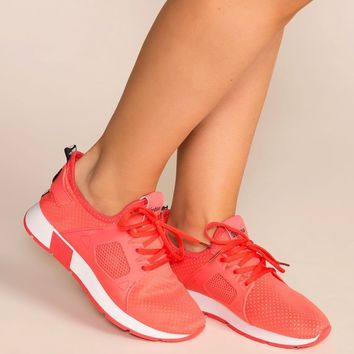Running Circles Coral Sneakers